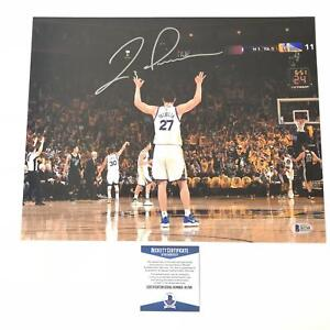 Zaza Pachulia signed 11x14 photo BAS Beckett Golden State Warriors Autographed