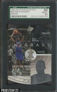 1997-98 Upper Deck SPx Die-Cut #42 Tracy McGrady RC Rookie SGC 92 NM-MT+ 8.5