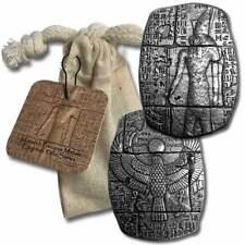 3 oz. .999 Fine Silver Bar - Egyptian Horus Relic Bar - New  - In a Cloth Bag