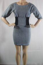 $158 NEW WOMEN BCBGeneration Jennifer body con Denim stretch Dress SZ 6