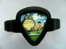 Guitar Pick Silicon Bracelet / Holder with a TOTORO   Pick