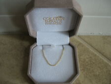 "NIB Columbian Emeralds International 14 carat yellow gold 18"" chain"
