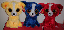 "Ty Beanie Boos Set - Dandelion, T-Bone & Tomato Show Exclusive Dogs ~ 6"" ~ New"