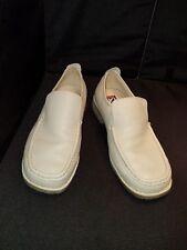 LN/WO men's BUFFALINO SOFT PEBBLED BONE WHITE leather loafers shoes US size 11