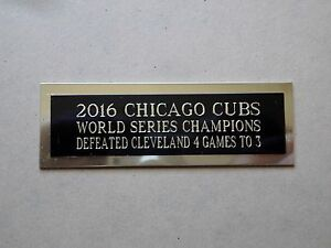 "2016 Chicago Cubs Baseball Card Plaque or Baseball Ball Cube Nameplate 1"" X 3"""
