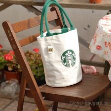 Large Starbucks Canvas Tote Bag Handbag Barrel Shape Shoulder ECO Shopping Bag