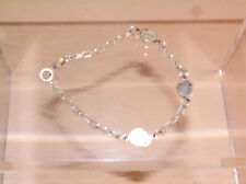 """Small Frog Charm Bracelet 925 Sterling Silver & 3 Charms 7.5"""" / 6 Grams"""
