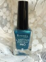Rimmel Lasting Finish Pro Nail Polish - 340 MARINE BLUE - NEW Super Durable