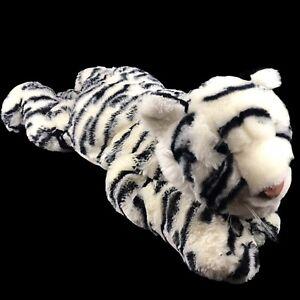 "Vintage Animal Alley White Tiger Large 26"" Plush Stuffed Animal Realistic Floppy"