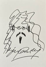 More details for billy connolly 'comedian' self portrait sketch doodle 11x8 art drawing signed