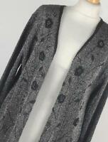 Affections Silver Floral Womens Cardigan Size XL (Regular)
