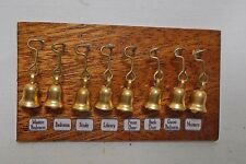 accessoire maison victorienne Trois serviteur cloches maison de poupées miniatures