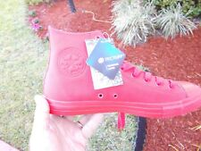 Converse CHUCK TAYLOR HI TOPS RED WITH  TECTUFF MATERIAL Shoes size 11 NO BOX
