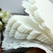 50Pcs Paper Party Doilies Doily Lace Doyleys Catering Wedding Coasters Round