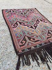 Old Turkish Kilim Rug, shabby chic, vintage, wool country home decor 75x113cm