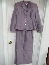Talbots  Silk/cotton  Mauve Formal Long skirt suit Size 4 Elegant!