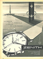 PUBLICITE ADVERTISING 025  1959  ZENITH   collection montres
