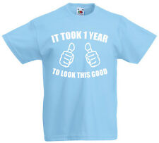 It Took 1 Year Look Good, 1st Birthday Gifts ideas T-Shirt For 1 Year Old Boys