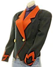 Blazer Black & Orange Gold Buttons Sharp Business Decorative Cuffs Asian Brand