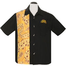 Sun Records by Steady Clothing Vintage Rockabilly Bowling Shirt Hemd Music Note