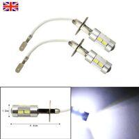 H3 5630 SMD 10 LED Car Bulbs XENON White 6000K Fog Light Headlight Lamp 12V