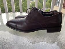 Johnston Murphy Oxford Men 11.5 M Brown Leather Lace Cap Toe Dress Shoe 15-2230