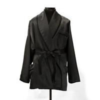 Men's Black Polka Dots Smoking Blazer Evening Wear Robe De Chambre Jacket Coats