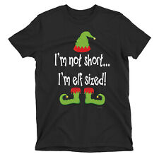 Not Short Im ELF Sized Womens Funny ORGANIC CHRISTMAS T-Shirt Xmas Gift Ladies