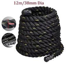 12m Battle Power Rope Battling Sport Gym Exercise Fitness Training 38mm Dia
