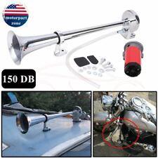 150DB 12V Super Loud Air Horn Compressor Single Trumpet Truck Train Boat Van Car