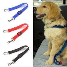 2 Pet Dog Adjustable Travel Seat Belt Harnesses Lead Car Safety Puppy Leash Clip