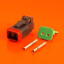 Deutsch DT Series 2 Way Plug Connector Kit DT06-2S-CE06 C/W Pins & Wedglock