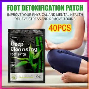 40x nuubu Detox Foot Patches Pads Body Toxins Feet Slimming Cleansing Herbal HOT