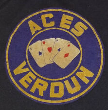 VINTAGES - VERDUN ACES - HOCKEY TEAM - EMBOSSED - FELT - CREST - ORIGINAL