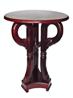 SMALL CIRCA 1920 ANGLO INDIAN ELEPHANT HAND CARVED ROSEWOOD SIDE TABLE