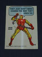 1967 Marvel Iron Man Sticker PCGC Philadelphia Gum Number 44