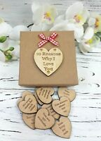 10 reasons why I love you - Personalised Valentines Gift - Romantic wooden Heart