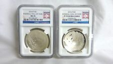 2014 Baseball Hall of Fame PF70 Ultra Cameo & Uncirculated MS70 Silver Dollars