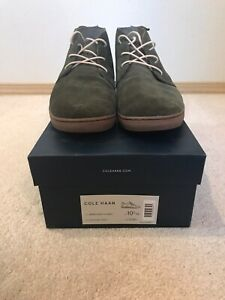 Cole Haan Men's Black Nantucket Chukka Suede Lace Up Boots Size 10.5
