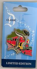 Disney Disneyland Classic D Railroad Train Engine Letter Series LE Pin & Card