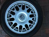 "VW GOLF MK3 MK4 GOLF 15"" BBS ALLOY WHEEL & TYRE 1H0601025AD 6Jx15 ET45 OEM #4"
