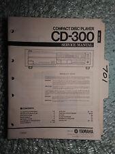 Yamaha cd-300 service manual original repair book stereo cd player