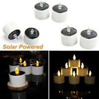 Solar Kerzen LED Flammenlose Teelichter Karzenlicht Wegleuchte Kerzenlicht Dekor