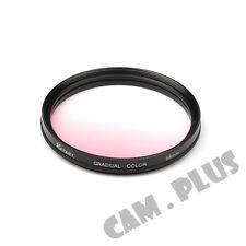 58mm Diameter Optical Gradual Pink Lens Filter For Samsung Leica Zeiss Fujifilm
