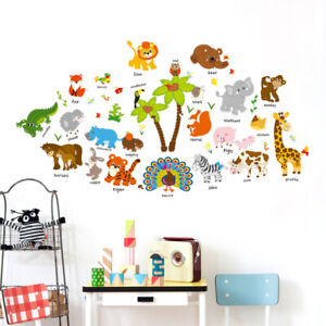 REMOVABLE ANIMALS JUNGLE ZOO ELEPHANT WALL STICKER  BABY KIDS CHILDREN  ROOM