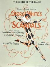 George White's Scandals Music Sheet Cover Fine Art Lithograph S2