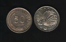 SINGAPORE 50 CENTS KM5 1967-1985 LION FISH ASEAN MONEY LARGE SIZE COIN