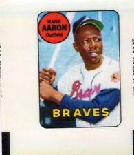1969 Topps Decals Hank Aaron