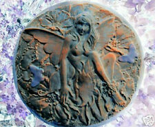 "Plaster concrete  plastic fairy stepping stone mold mould 10.5"" x 1.5"""