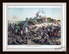 Wall Art   Civil War Painting 1864 Battle of Nashville Hood & Thomas  11x14